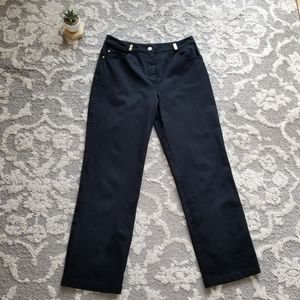 St John Sport by Marie Gray Black Pants Size 10